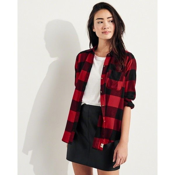 Hollister Oversized Flannel Shirt ($20) ❤ liked on Polyvore featuring tops, flannel shirt, pocket shirts, tartan shirt, tartan top and over sized shirts