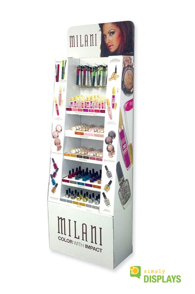 Cosmetic Displays, Corrugated floor stand
