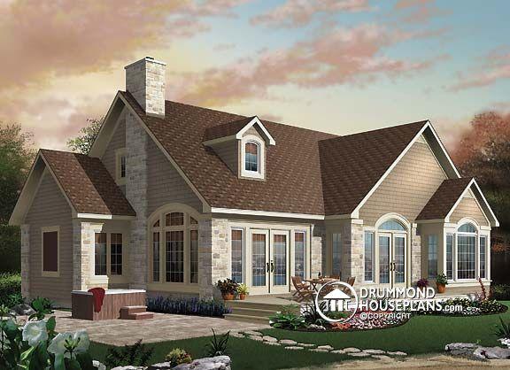 House plan W2694A, craftsman house, home design, home exterior design, sunset, sunrise, dessinsdrummond, drummondhouseplans, drummonddesigns