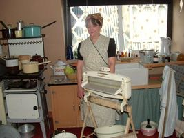 1940's kitchen on washday