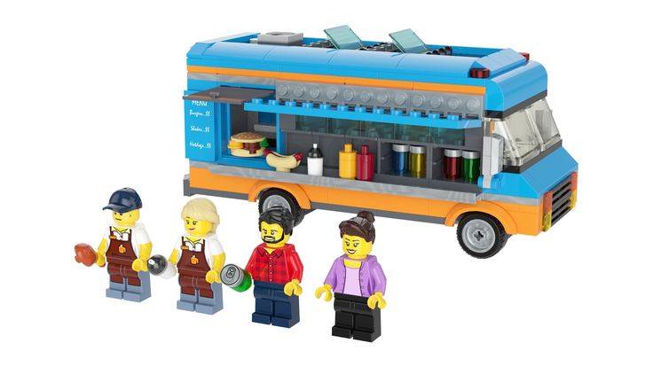 Who doesn't love food trucks? I wanted to make a small build around 300 pieces but couldn't find any inspiration. Then, as I was eating mexican tacos from a taco truck, it dawned on me: why not a food truck? Unfortunately, there's no such thing as a taco element (maybe half a circle tile in the future, who knows) so I decided to go with a classic burger, hotdog, etc food truck. I looked away from the boringly traditional all white truck and used more vibrant colors (although they ...