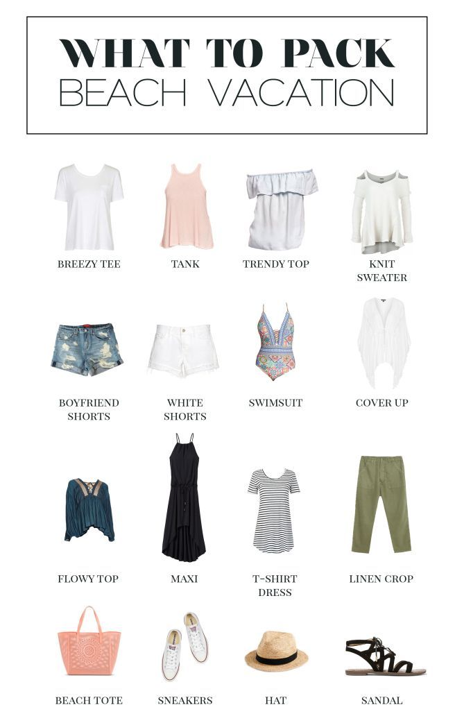 A minimalist's guide for what to pack for a beach vacation. | Beach Vacatio…