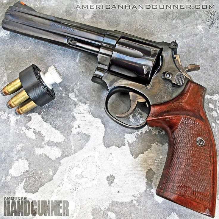 Shooting a .357 do fun? You betcha!More fun longer maybe by loading .38 Spl. in this S&W 586 instead. See more ways to play with non-rimfire fun-guns in the May/June 2018 issue of American Handgunner.  @americanhandgunner.com  #funguns #righttobeararms #igmilitia #pewpewlife #wheelgunwednesday #merica #2a