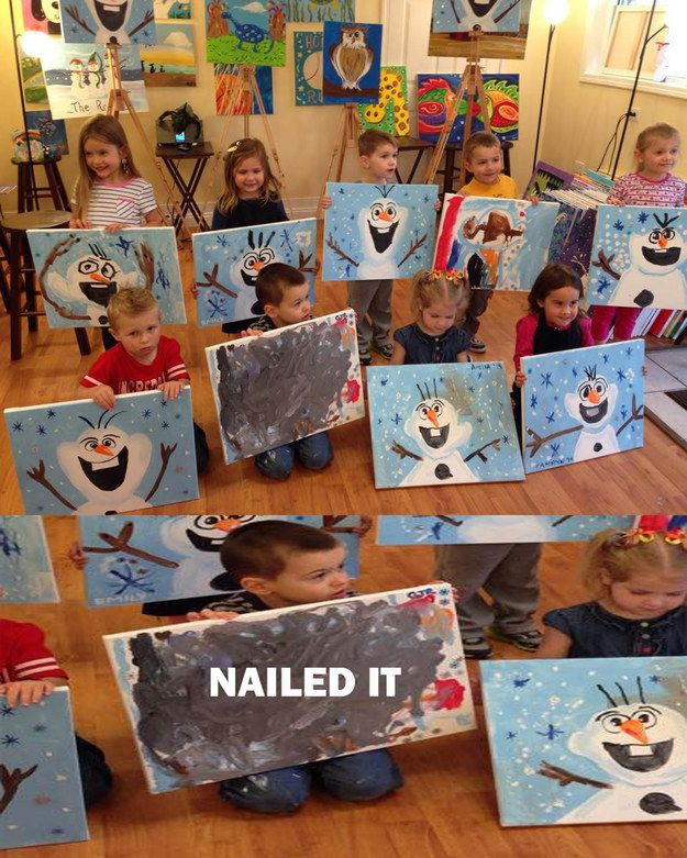 … But ended up with a post-modern expressionist painting. | 19 People Who Will Make You Feel Better About Your Holiday Crafting Skills