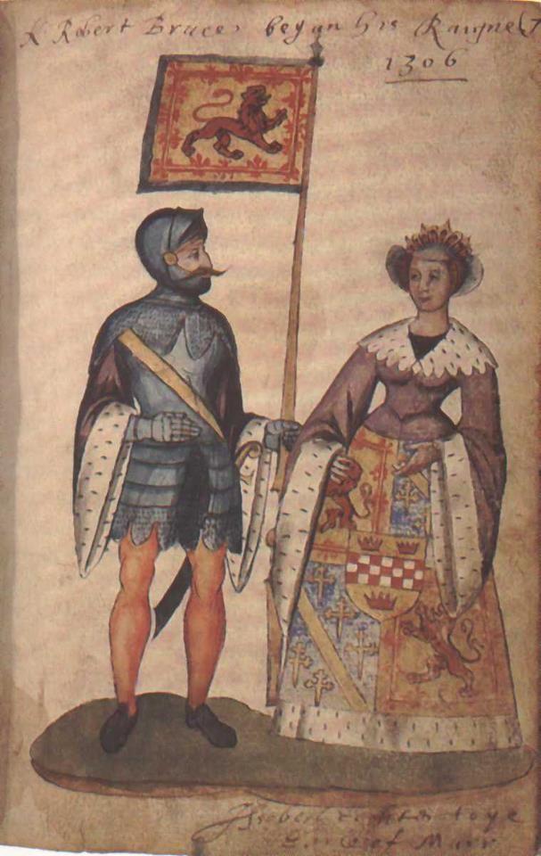 Robert de Brus (aka Robert the Bruce) This illustration depicts Robert's marriage to his second wife, Elizabeth de Burgh, in 1306
