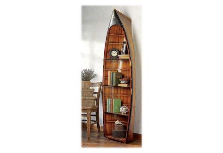 Bosun's Gig Row Boat Bookcase