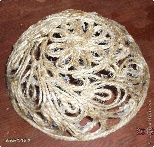"""Пообещала рассказать о том, как я делаю свои плетеночки. Возьмем шпагат, клей """"Титан"""" фото 1"""