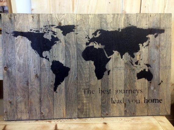 Barnwood Map Wall Art