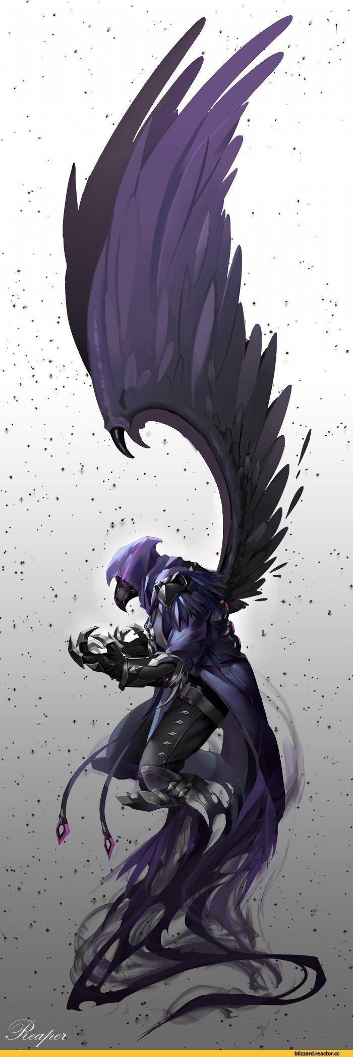 Blizzard,Blizzard Entertainment,фэндомы,Overwatch art,Overwatch,Reaper (Overwatch)