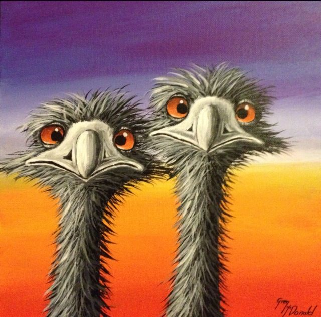 Ostrich Painting For A Baby S Room