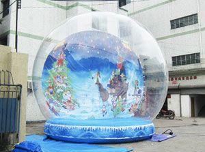 Yolloy outdoor inflatable life size christmas snow globes for sale