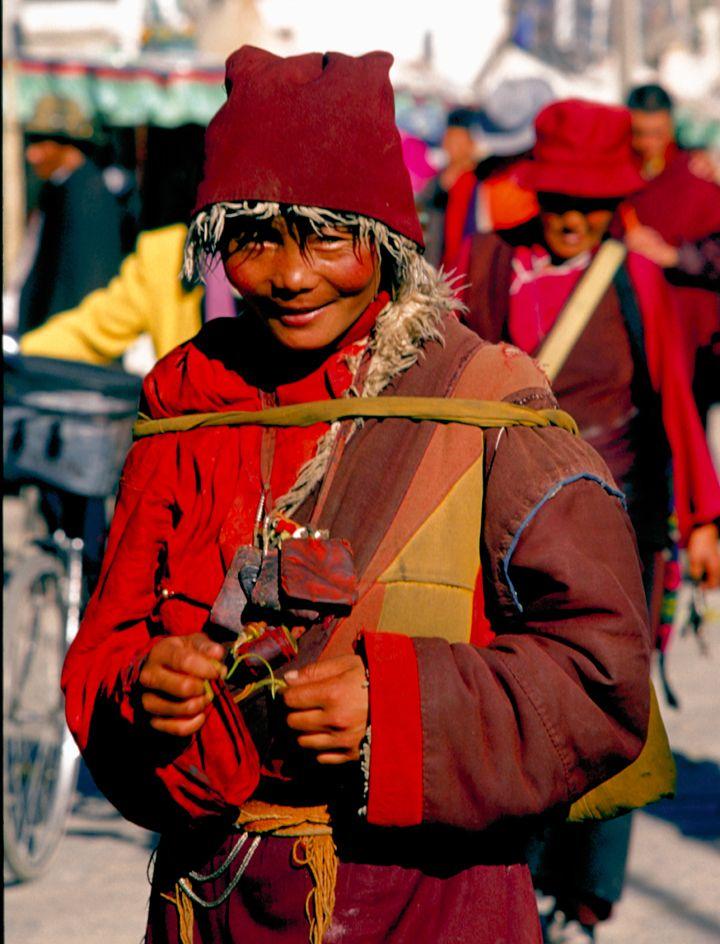 Female pilgrim in Lhasa