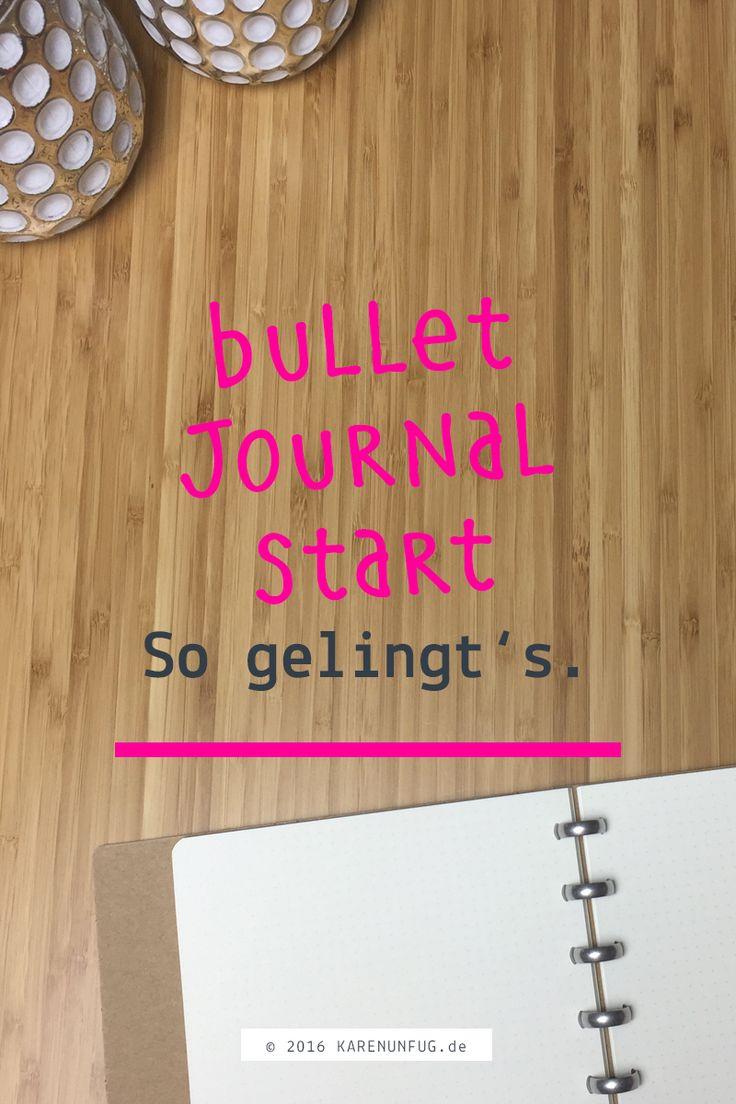 Für den Bullet Journal Start brauchst Du nicht viel - nur ein Notizbuch und einen Stift. Es geht im Grunde darum, alles was Dich beschäftigt - Ideen, Aufgaben, Projekte und Termine in diesem Notizbuch festzuhalten.  Bei intensiver und konsequenter Nutzung kann ein absolut individueller Planner entstehen, der nur für Deine ganz persönlichen Bedürfnisse gestaltet ist.