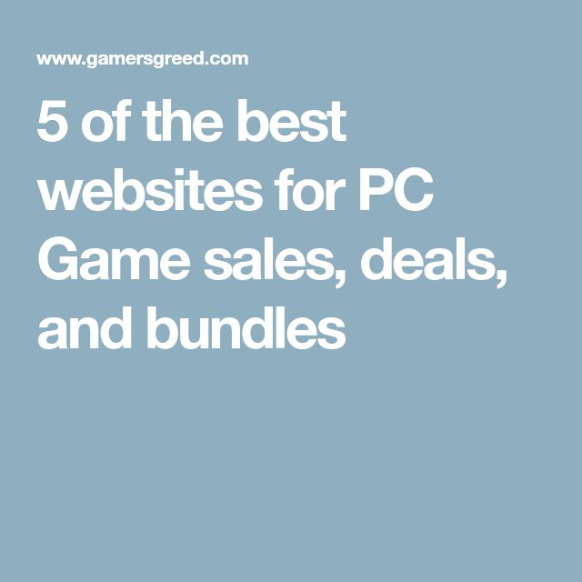 5 of the best websites for PC Game sales, deals, and bundles