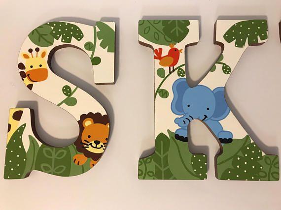 Letras de pared con temática Animal pintado personalizado