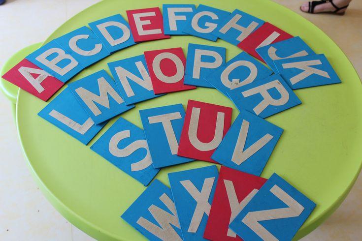 [Diy] Fabriquer ses lettres rugueuses avec du matériel de récupération {Montessori at home #5}