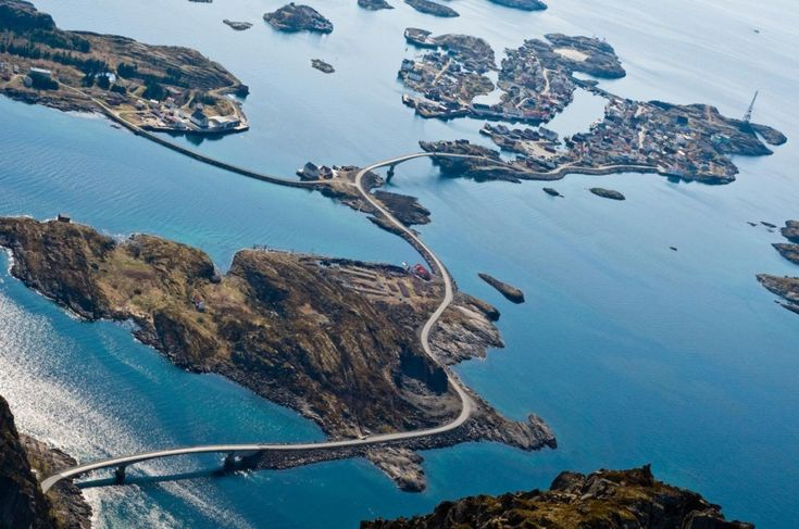 The Atlantic Road is a 8.3-kilometer (5.2 mi) long section of County Road 64 that runs through an archipelago in Eide and Averøy in Møre og Romsdal, Norway