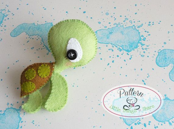 THE TURTLE (PDF)  This cute little friend is THE TURTLE, perfect to be part of a cute baby mobile or as a present for anyone!! As always quick, easy and fun to make. This PDF document will give you instructions and patterns to hand-sew a lovely 4.5 inch TURTLE. Meet his other friends and get the complete SPLASH collection!!  **You will receive an electronic file with pattern and instructions. No physical items will be sent**  This PDF includes:  • List of materials needed (all easy to find)…