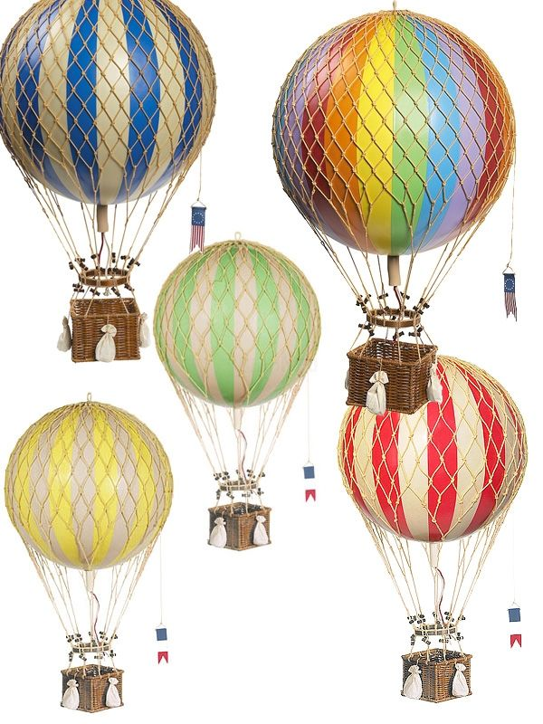 Vintage Hot Air Balloons available from The Little Big Company