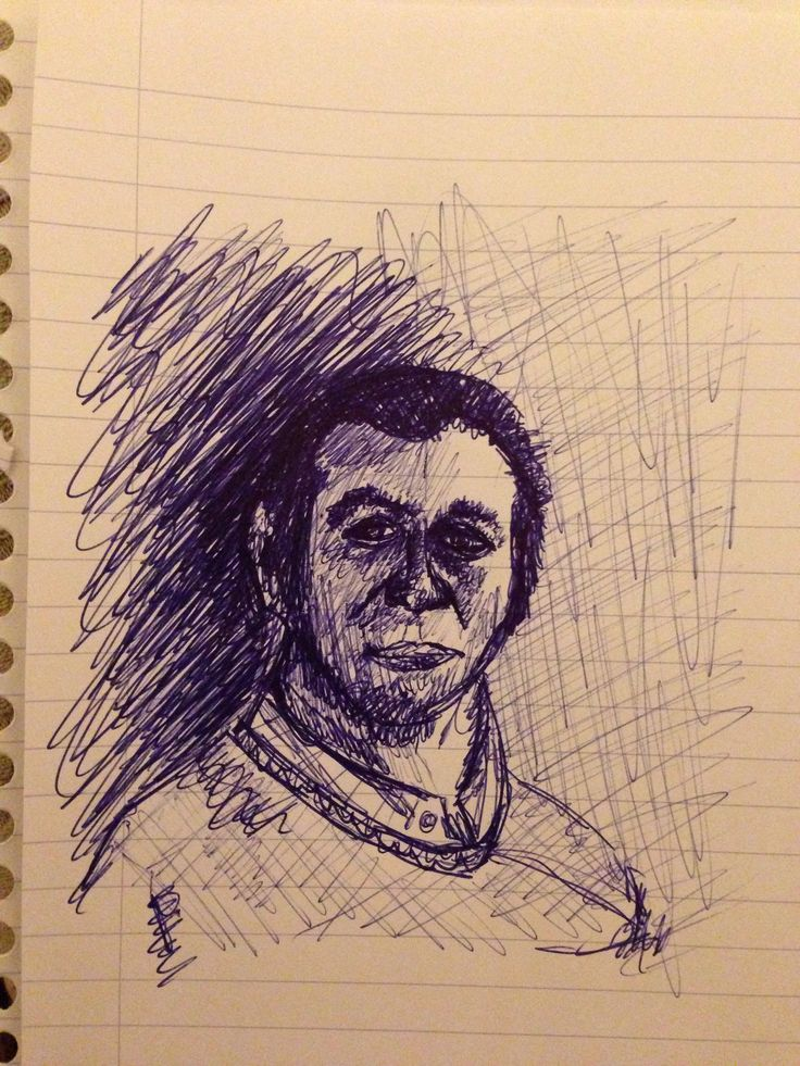 Ballpoint portrait