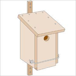 bauanleitung vogelhaus einfach vogelhaus nistkasten. Black Bedroom Furniture Sets. Home Design Ideas