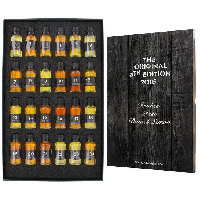 Wow! Whisky-Adventskalender mit Personalisierung. Ein echt edler Adventskalender, 24 verschieden Whiskys, ein Volltreffer für alle Whisky-Fans!!