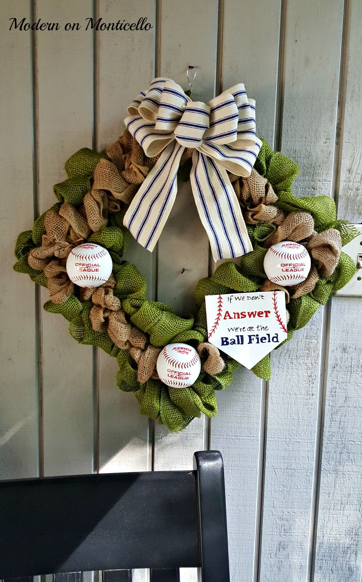 Baseball Diamond Shaped Wreath - Modern on Monticello
