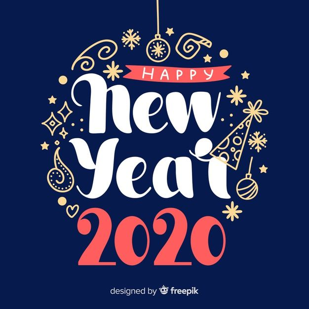 Download Flat Design New Year 2020 Wallpaper For Free New Year Wishes Images New Year Card Design New Year 2020