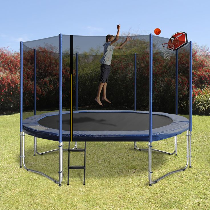 The 'Oval Shaped trampoline', has been cleverly designed to maximise your jumping area whilst saving you precious backyard space.  Innovatively designed with rounded edges and a streamline shape, this new shape provides a superior bounce by activating every spring and gives a greater performance than the rectangle trampoline with the safety of a round. Available with an optional basketball kit- they are the perfect backyard accessory.