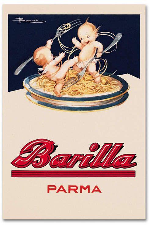 Vintage Apple Collection 'Barilla-Parma' Canvas Art – 24 x 16 x 2