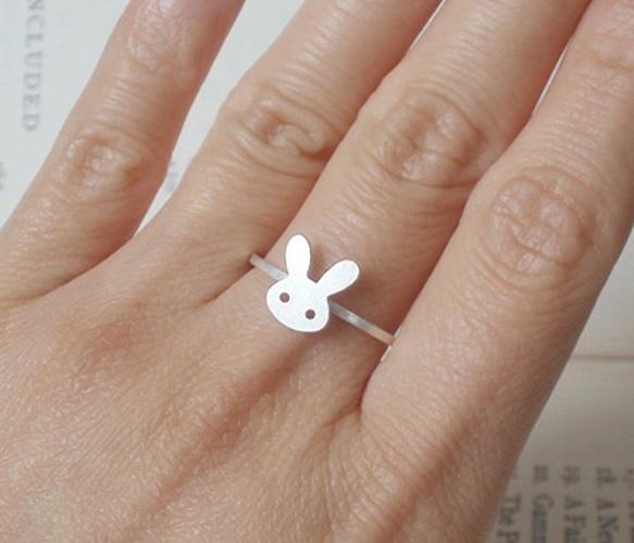 Bunny Rabbit Ring: Rings Beautiful Rings, Bunny Jewelry, Designer Jewellery, Bunny Jewellery, Sterling Silver, Bunnies