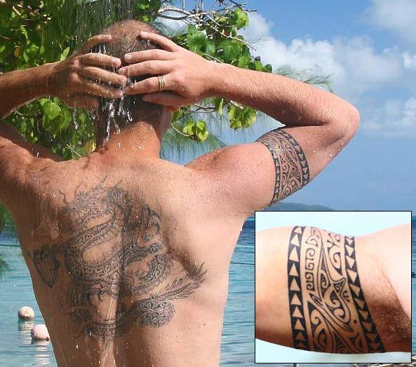 tahitian tattoo | Ramzi tattooed by Efraima, Tahiti