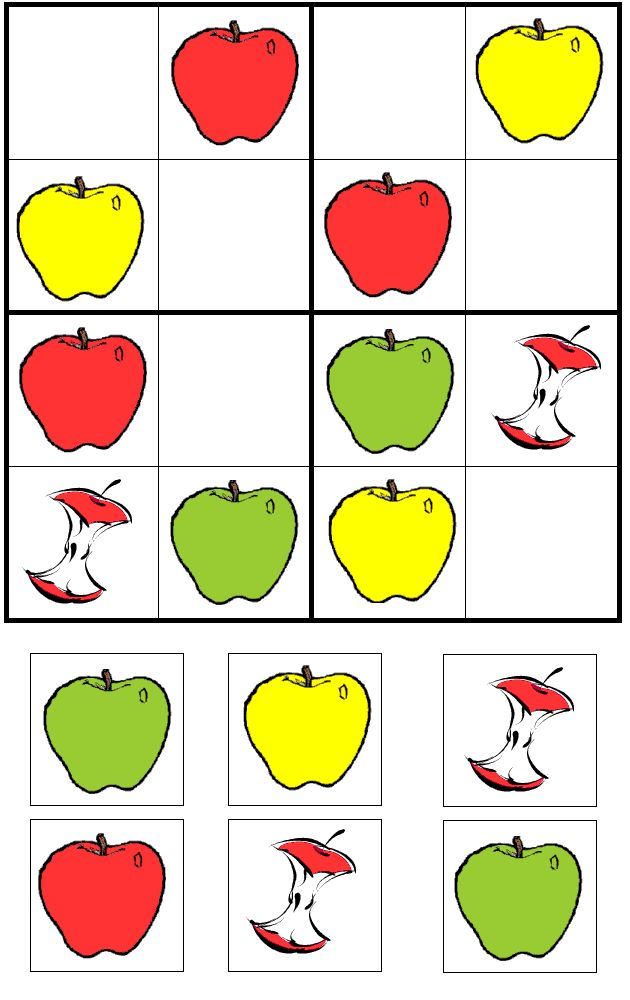 apple picture sudoku puzzle/A Child's Place This is a fantastic site for easy simple games to teach.  Love her stuff