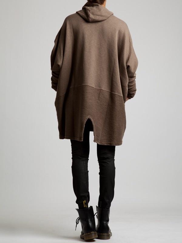 Rustic Thick Cotton Oversize Jumper by LURDES BERGADA