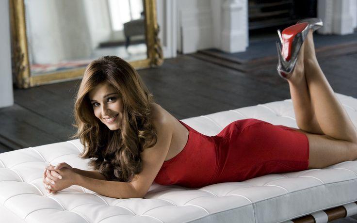 Шерил Коул, Cheryl Cole, красное платье