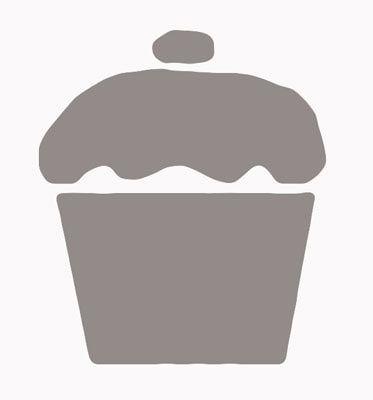 Free cupcake stencil