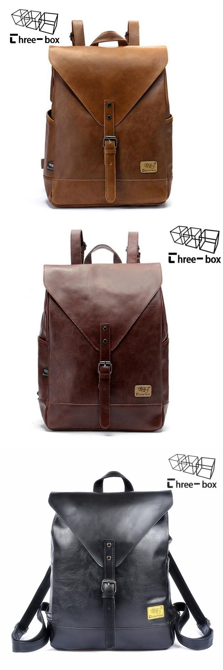 [Visit to Buy] 2017 Hot! Women fashion backpack male travel backpack mochilas school mens leather business bag large laptop shopping travel bag #Advertisement