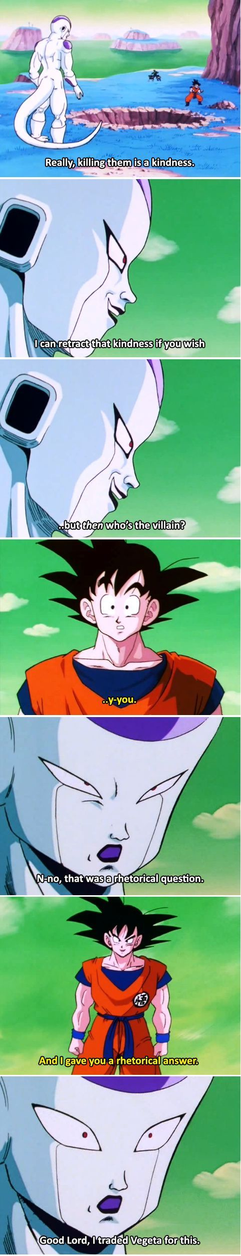 Smart move, Goku... - Visit now for 3D Dragon Ball Z compression shirts now on sale! #dragonball #dbz #dragonballsuper