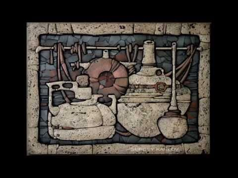 Sergey Karlov - Festett mozaikok - Станковая  мозаика -