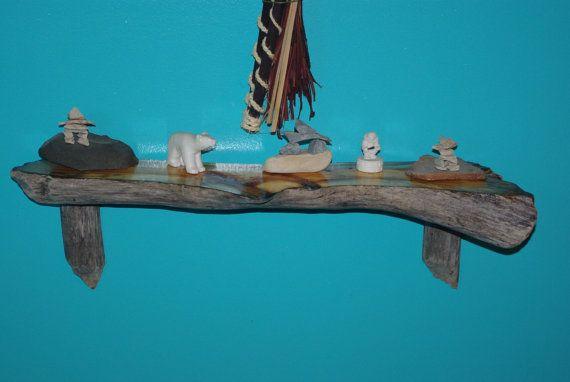 Driftwood Shelf Beaver Chewed by BeaverChewdDriftwood on Etsy