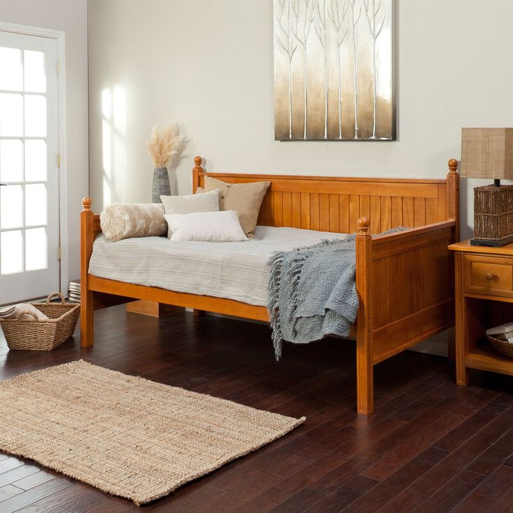 twin size daybed in honey maple wood finish no trundle quality house