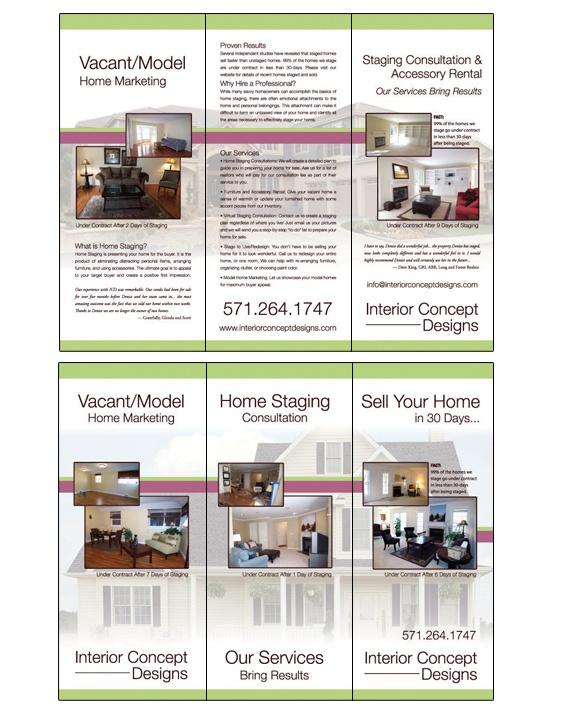 Interior Concept Designs Trifold Brochure