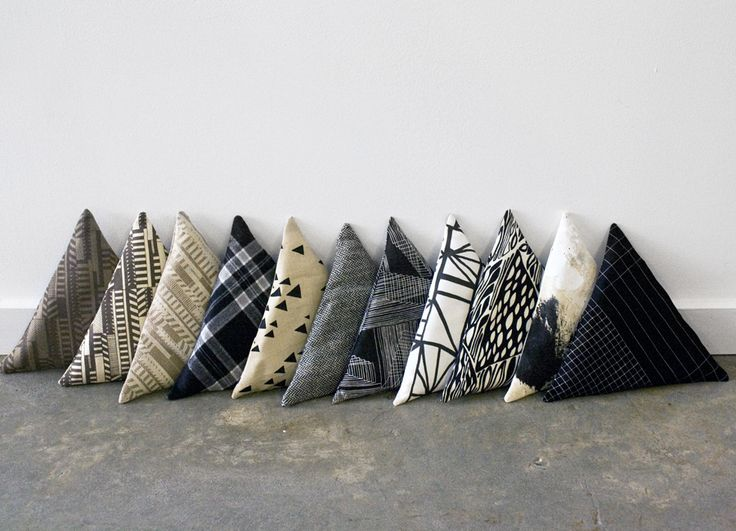 Sight Unseen: Mociun Mini Triangle Pillows.