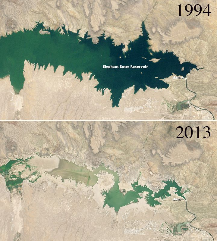 Parched New Mexico Reservoir Reveals Effects of