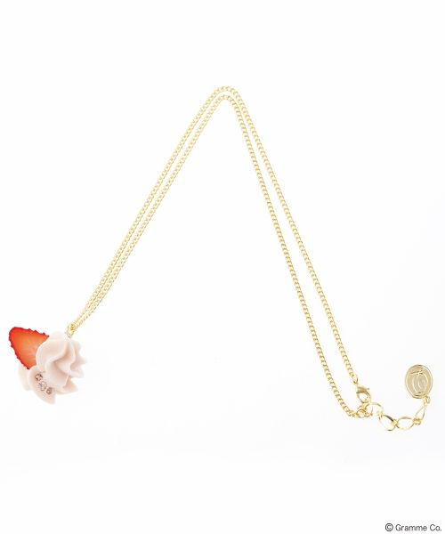 Strawberry Whip Necklace Pink