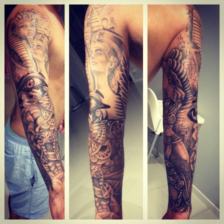 Egyptian sleeve tattoo | Tattoos | Pinterest | Sleeve ...