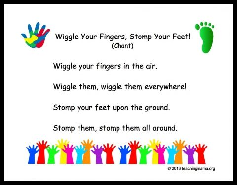 "Preschool Transition Songs this goes on to ""now sit down and cross your feet...."" For before circle time!"