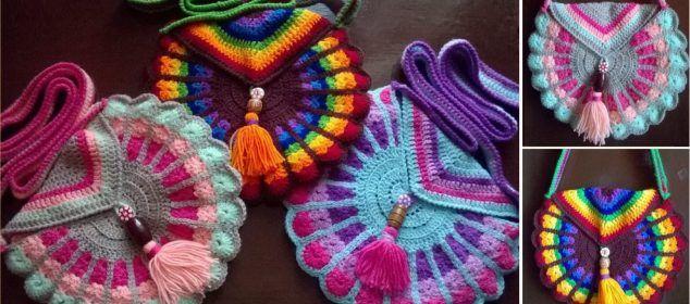 Crochet Peacock Bag