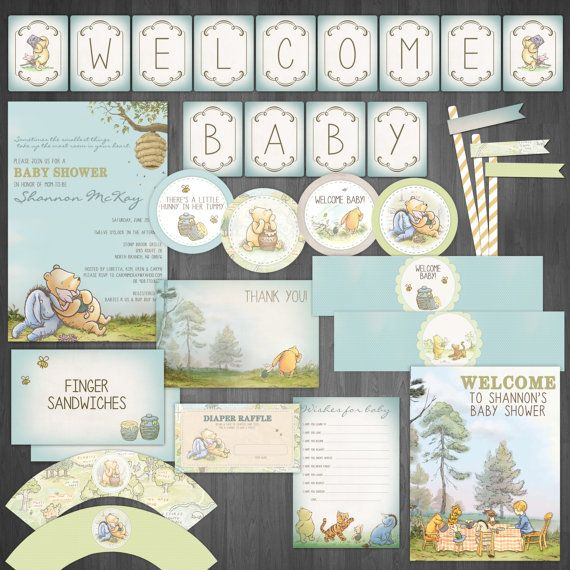 This listing is for a DIY Printable Baby Shower Package  ________________________________________    INCLUDED:  - Invitation  - Welcome Baby