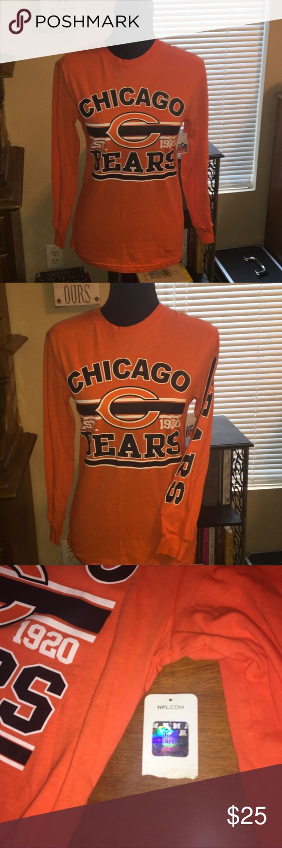 Boys official NFL Chicago Bears top MED Boys LS NWT Chicago Bears top, officially licensed.  #nfl #football nfl Shirts & Tops Tees - Long Sleeve